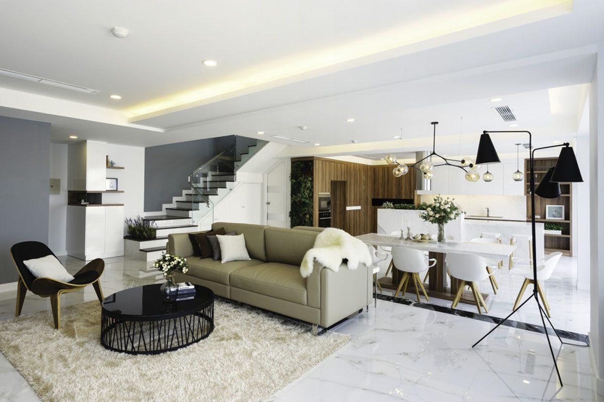 thiết kế nội thất căn hộ Penthouse chung cư H2