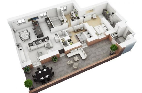 căn hộ 100m2 sang trọng với thiết kế thông minh