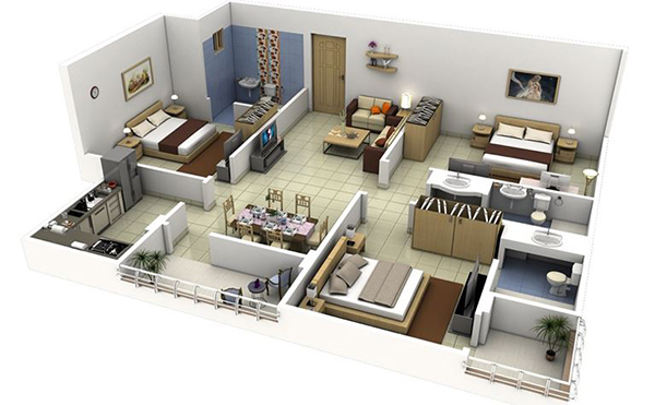 thiết kế nội thất chung cư 80m2