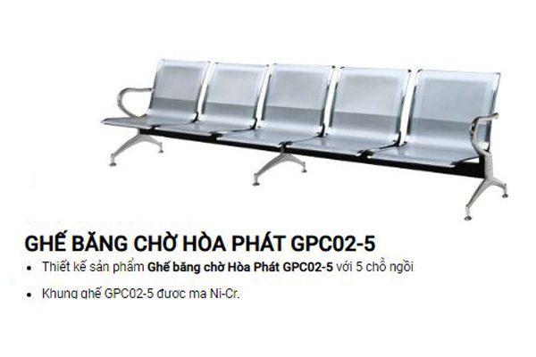 Ghế phòng chờ sắt mạ GPC02-5