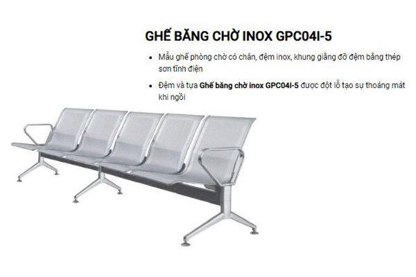 Ghế băng chờ Inox Hòa Phát GPC04I-5
