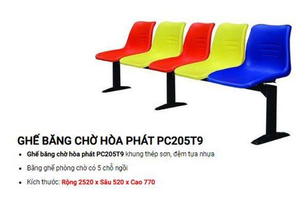 Ghế băng nhựa 5 chỗ giá rẻ PC205T9